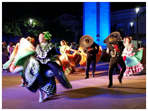 Mexican dancers at Cozumel vacation rental